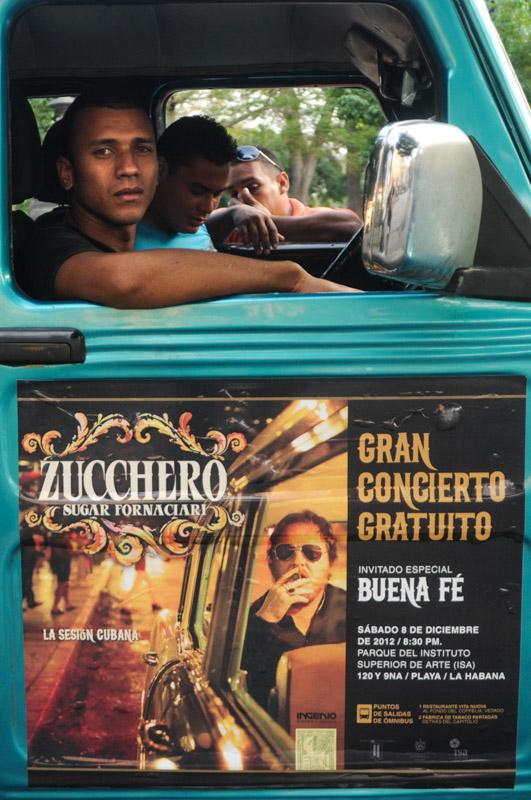 locandina gran concierto zucchero Cuba