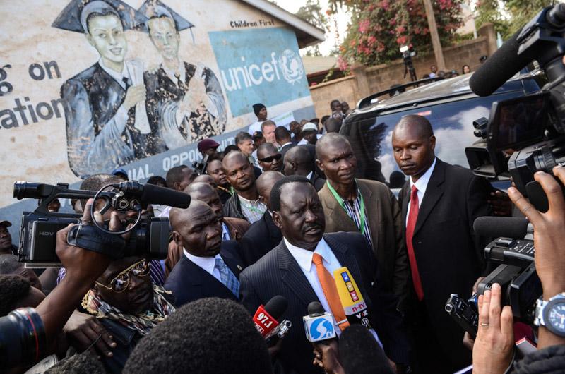 Raila Odinga fuori dai seggi