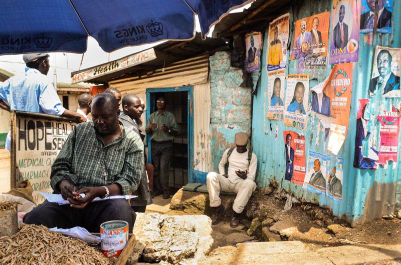 baraccopoli durante le elezioni Kenya 2013