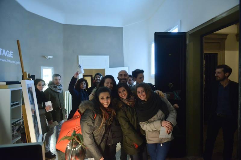white art city night bologna studio