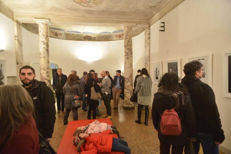 white art city night bologna artefiera