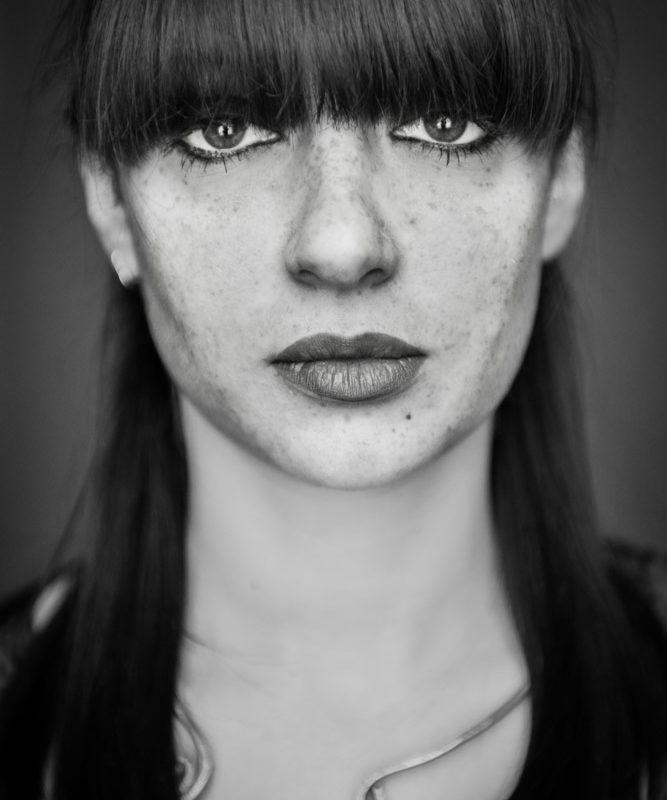ritratti ragazza lentiggini Foto Image
