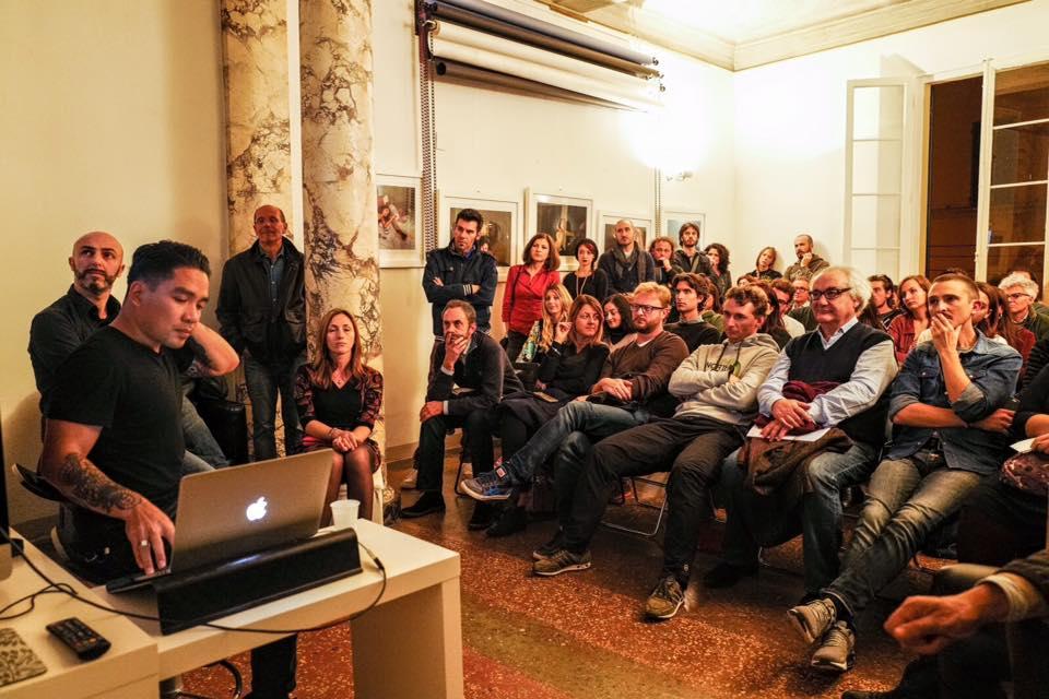 Gianfranco Tripodo serata fotografica Bologna