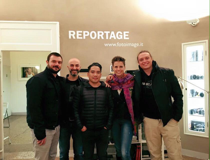 Gianfranco Tripodo con lo staff Foto Image Bologna