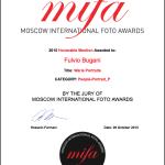 certificato menzione d'onore MIFA