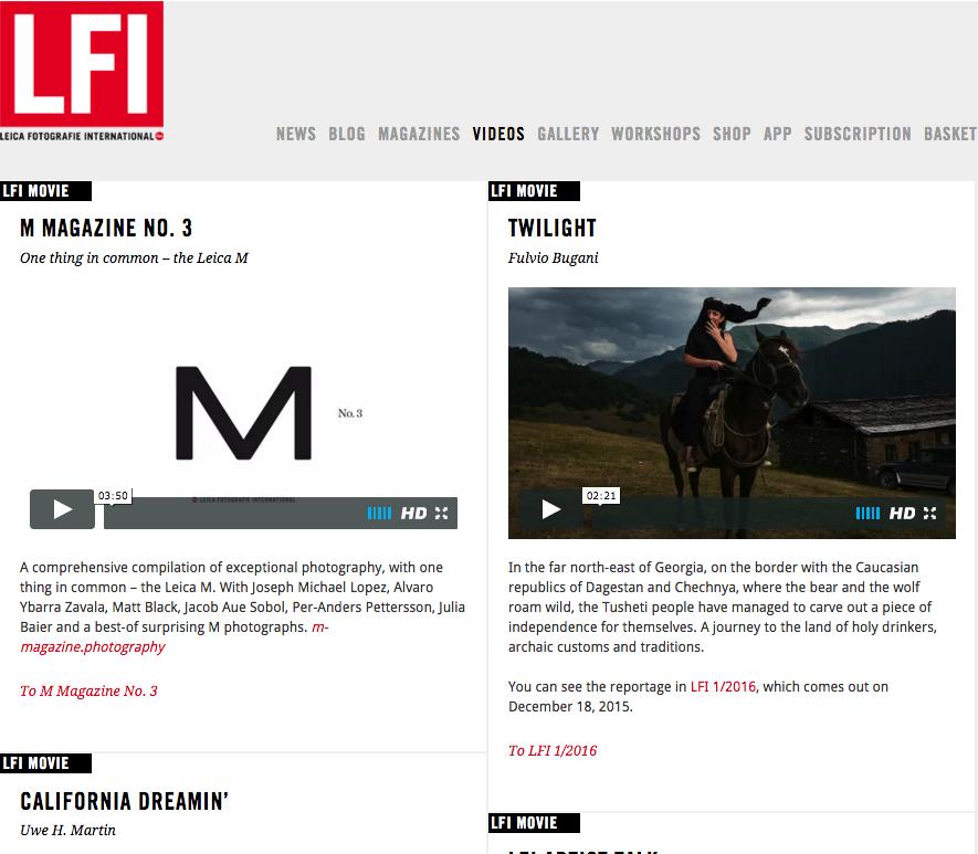 Reportage Twilight su LFI Magazine
