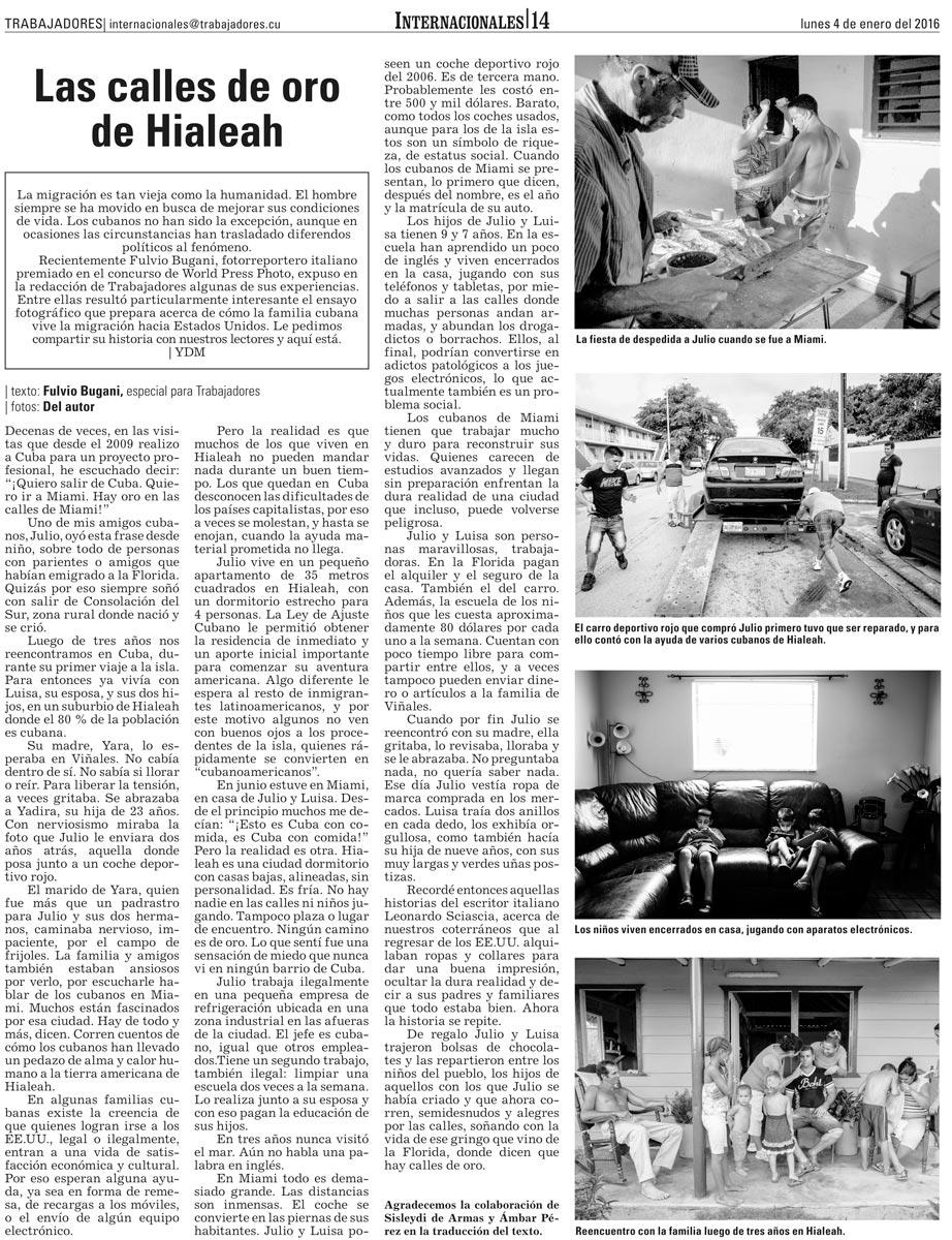 articolo cartaceo trabajadores