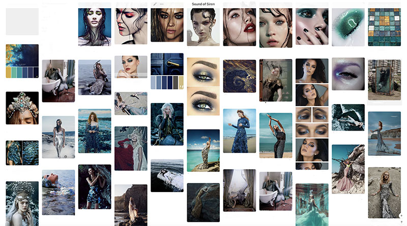moodboard fashion editorial