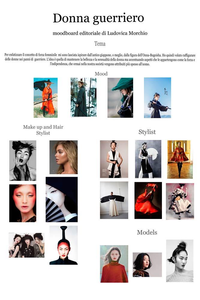 fashion portrait moodboard