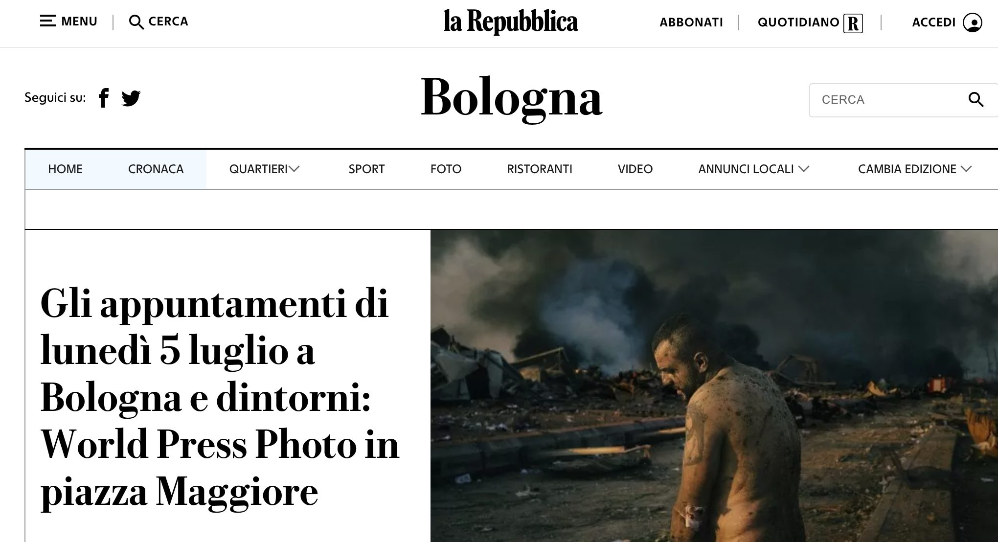world press photo bologna repubblica